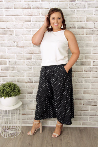 Lexi Culotte Pants in Navy
