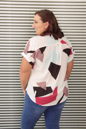 Avery Blouse in Geometric