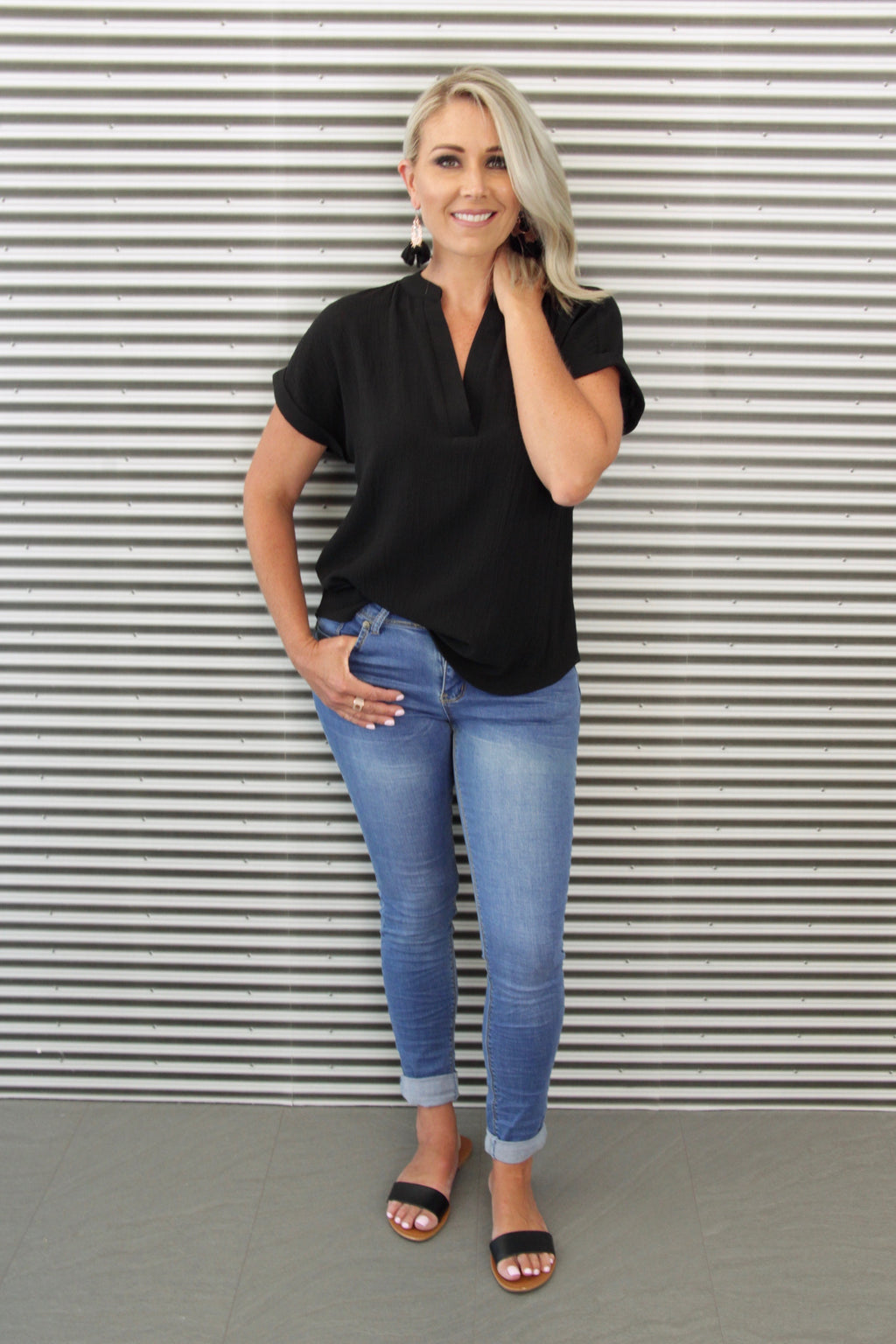 Avery Blouse in Black