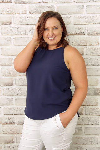 Carly Top in Navy