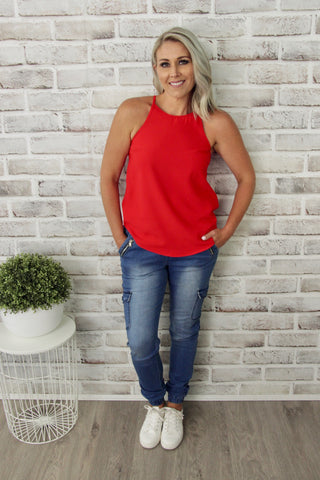 Carly Top in Red