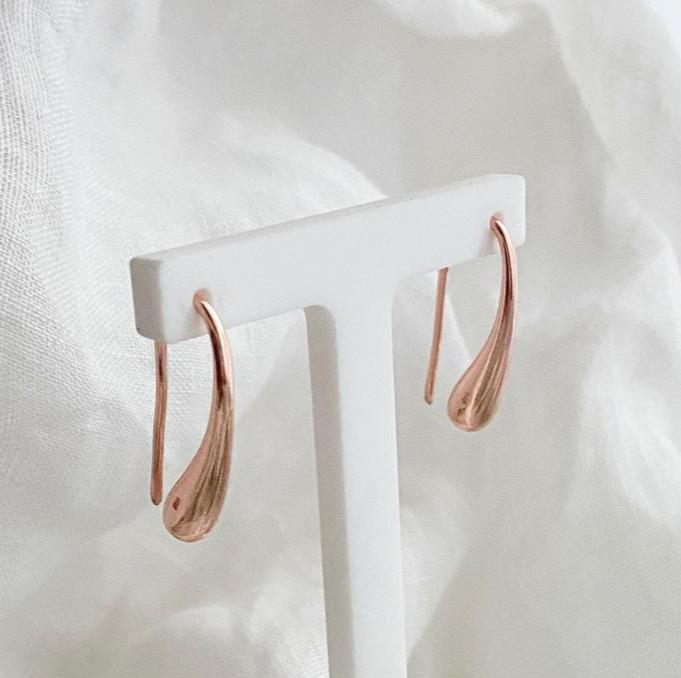 Rose Gold Water Drop Earrings