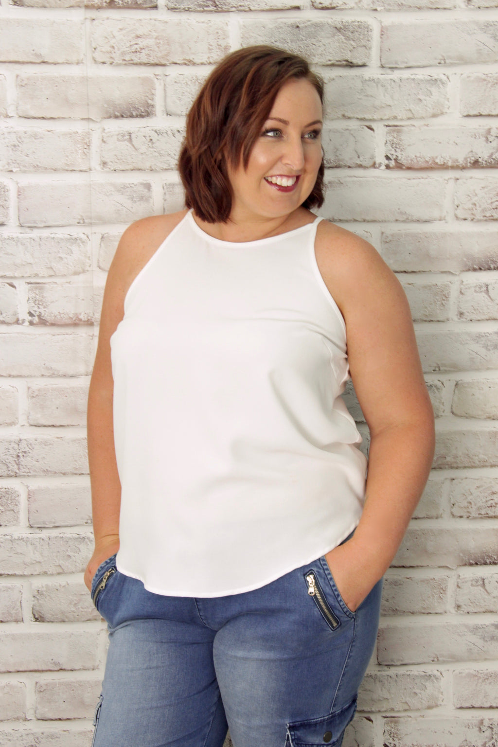 Carly Top in White