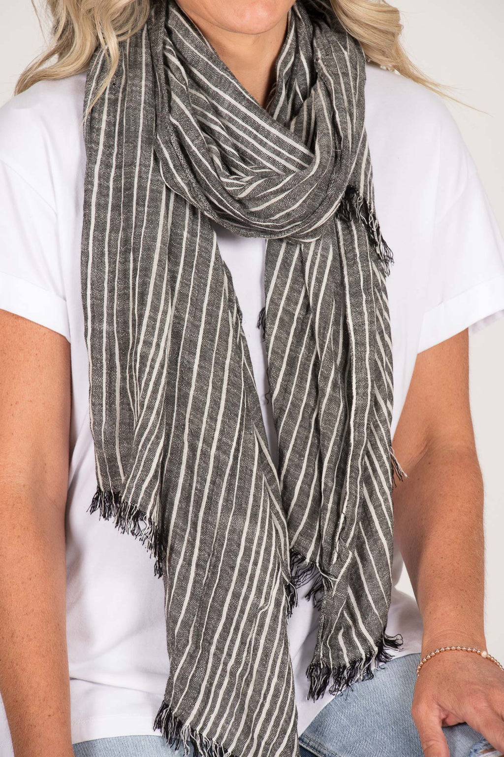 Andora Scarf in Charcoal