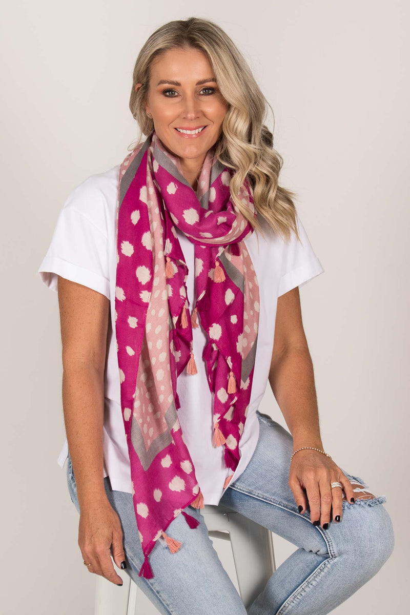 Relish Scarf in Pink