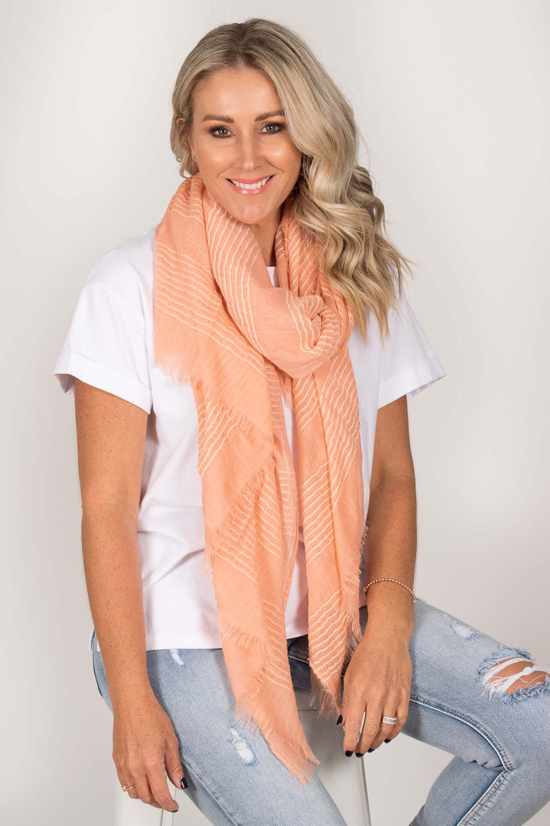 Florida Scarf in Peach