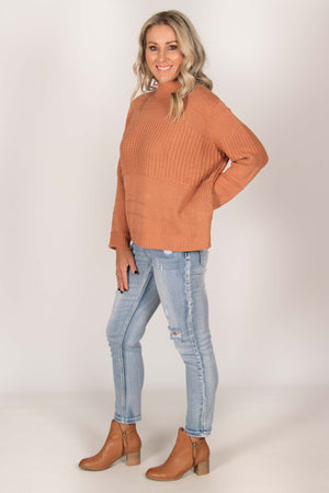 Calen Knit Jumper in Spice