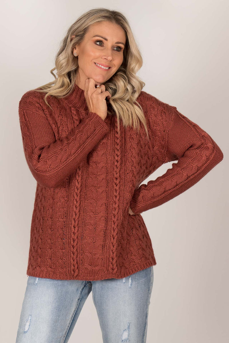 Rio Knit Jumper in Rosewood