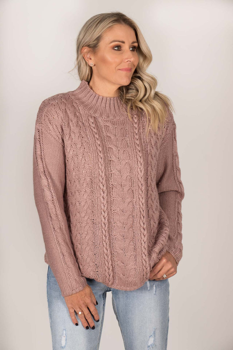 Rio Knit Jumper in Thistle