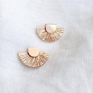 Rose Gold Semi-Circle Stud Earrings
