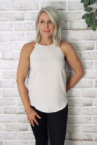 Carly Top in Beige