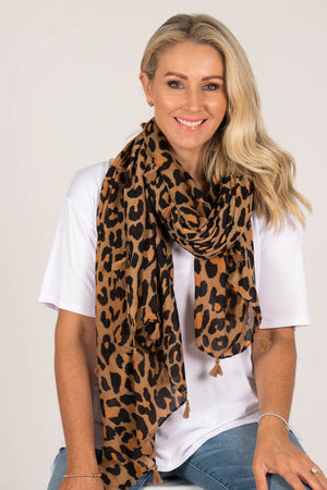Crossley Scarf in Tan/Black