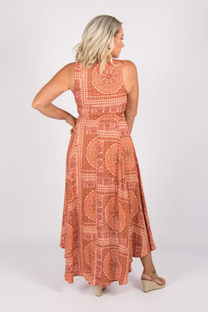 Scarlett Dress in Rust