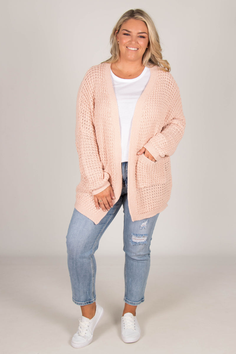 Knox Cardi in Blush