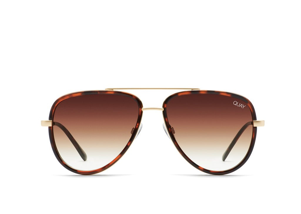 Quay Eyewear - All In Mini in Tort/ Brown Fade