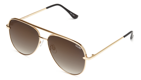Quay Eyewear - Sahara Mini (Gold/Smoke/Taupe)