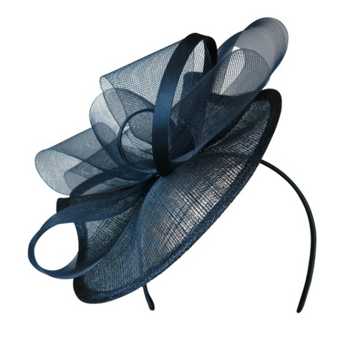 Calista Fascinator in Navy