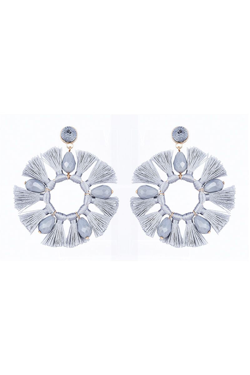 Xanadu Round Earring in Grey