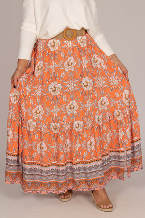 Belair Skirt in Orange