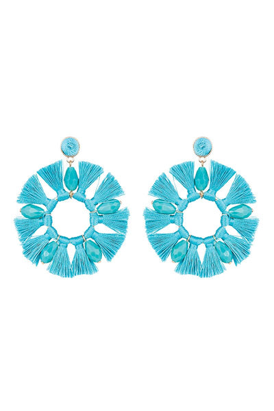 Xanadu Round Earring in Teal