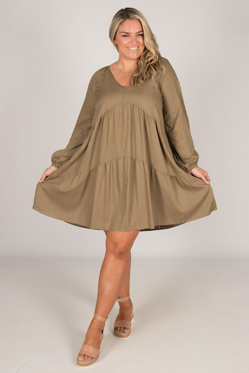 Harper Dress in Olive