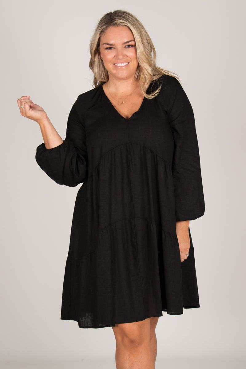 Harper Dress in Black