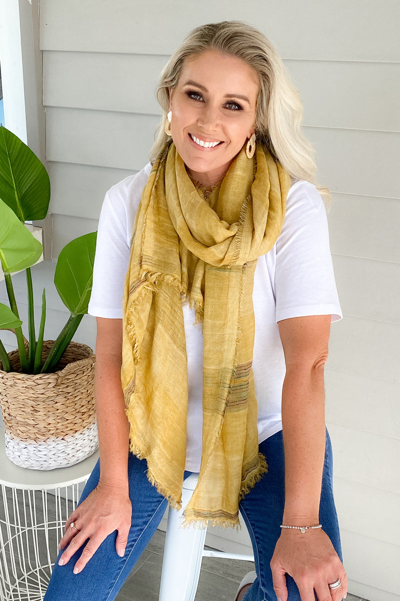 Glory Scarf in Mustard