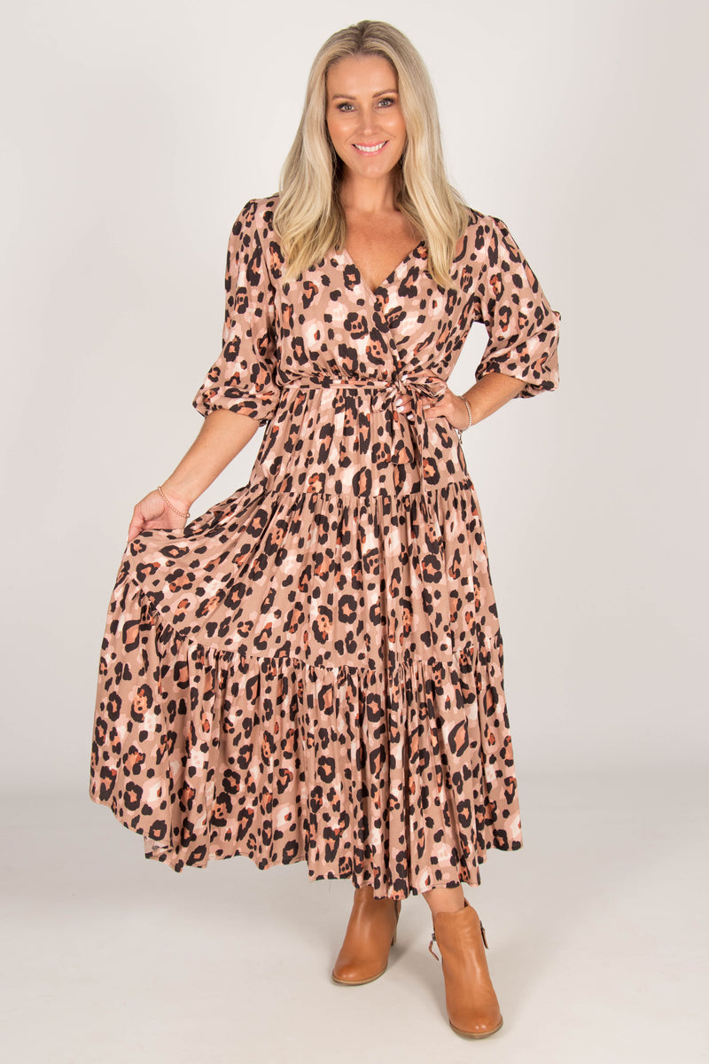 Aimie Dress in Leopard