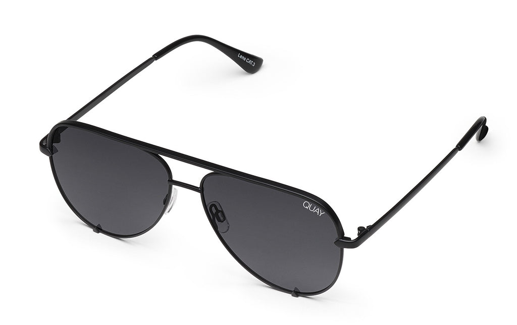 Quay Eyewear - High Key Mini in Black/Smoke