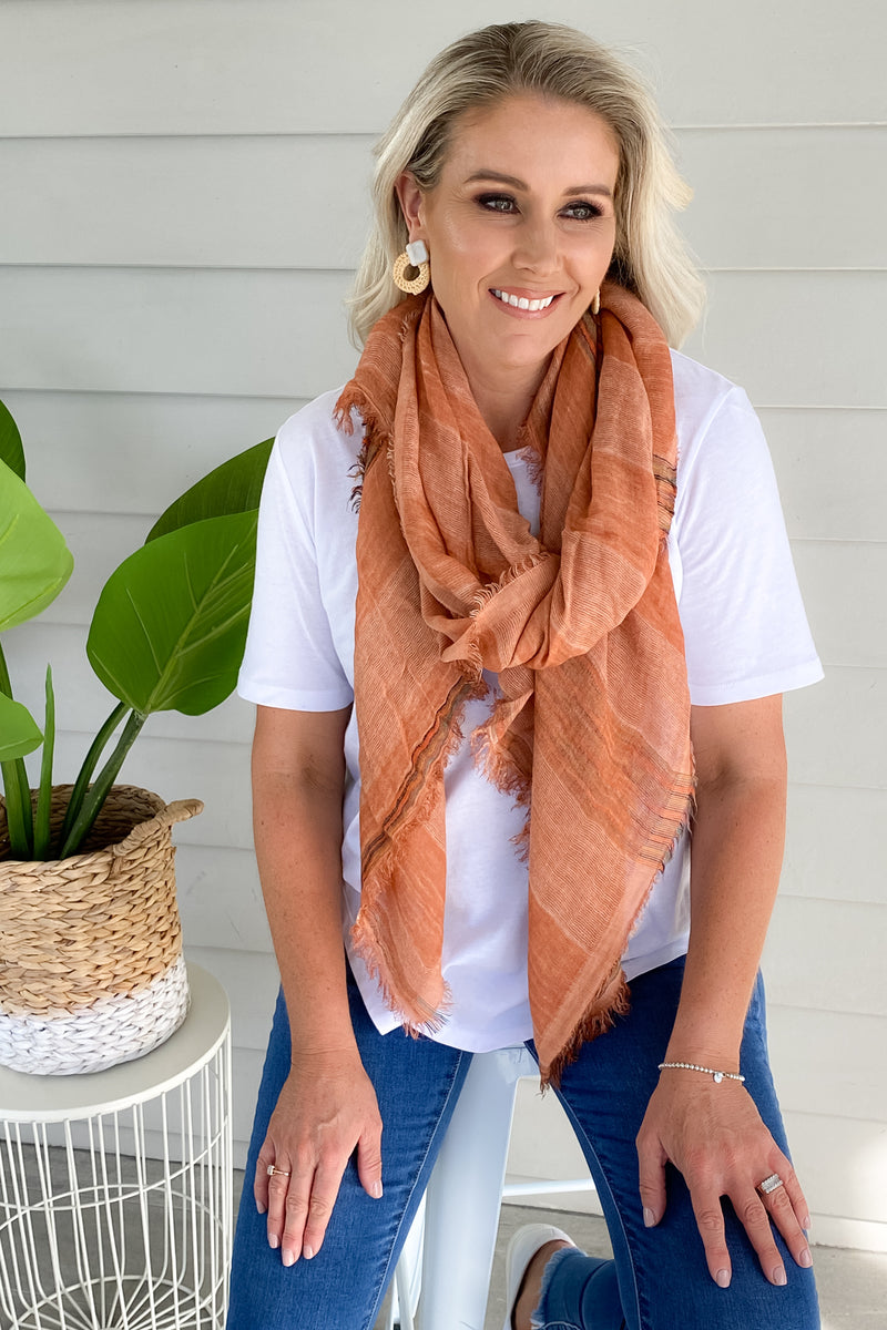 Glory Scarf in Orange