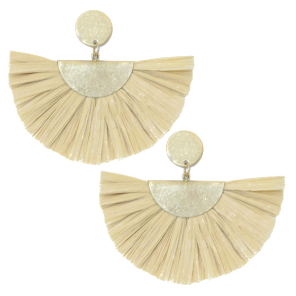 Fan Fringe Earrings in Ivory