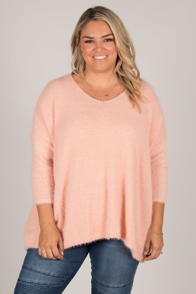 Jolie Knit Jumper in Peach