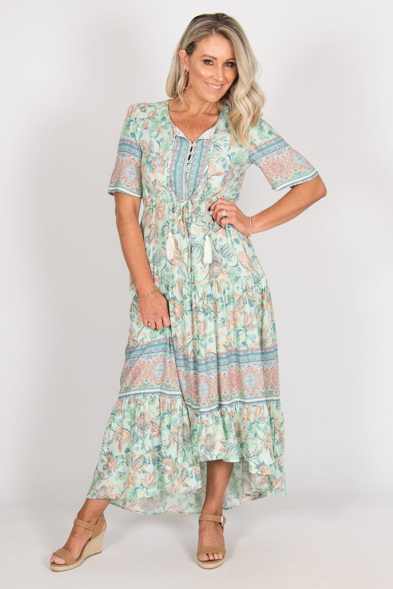 Harper Dress in Mint