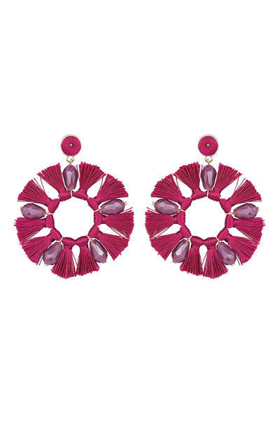 Xanadu Round Earring in Shiraz