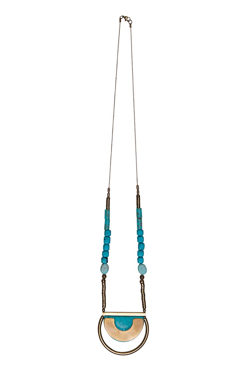 Jalapa Moon Necklace in Turquoise