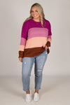 Rubi Knit Jumper in Purple