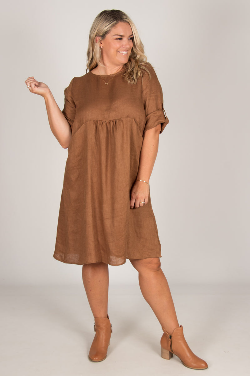 Willow Dress in Cinnamon