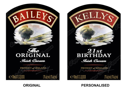 Baileys Label Personalised Or Original Cake topper