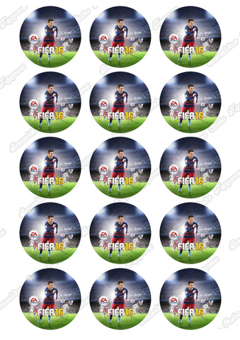 "Fifa 16 2"" Cupcake toppers x 15"