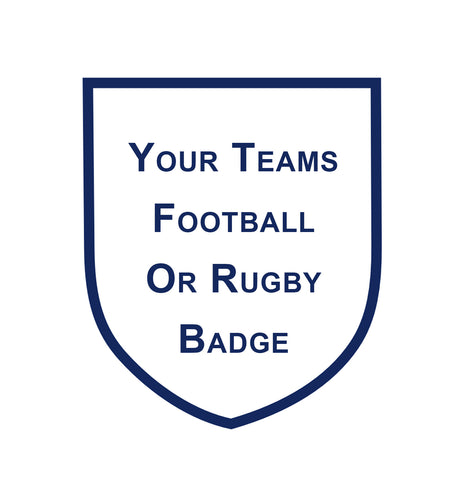 Football or Rugby Badge Cake Topper