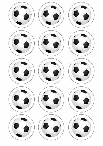 "Football 2"" Cupcake toppers x 15"