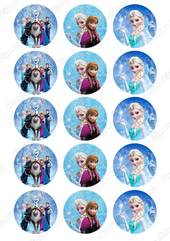 "Disney Frozen 2"" Cupcake toppers x 15"