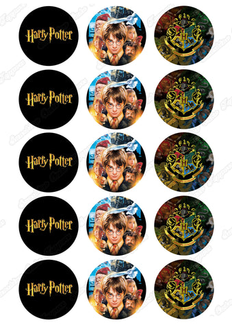 "Harry Potter 2"" Cupcake toppers x 15"