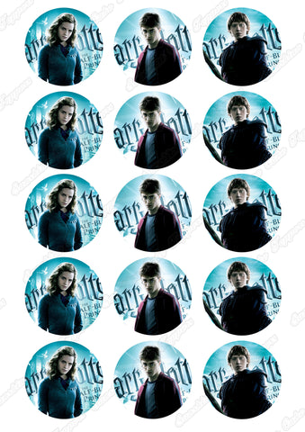 "Harry Potter Cast 2"" Cupcake toppers x 15"