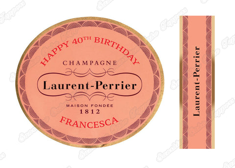 Laurent Perrier Personalised Label Cake topper