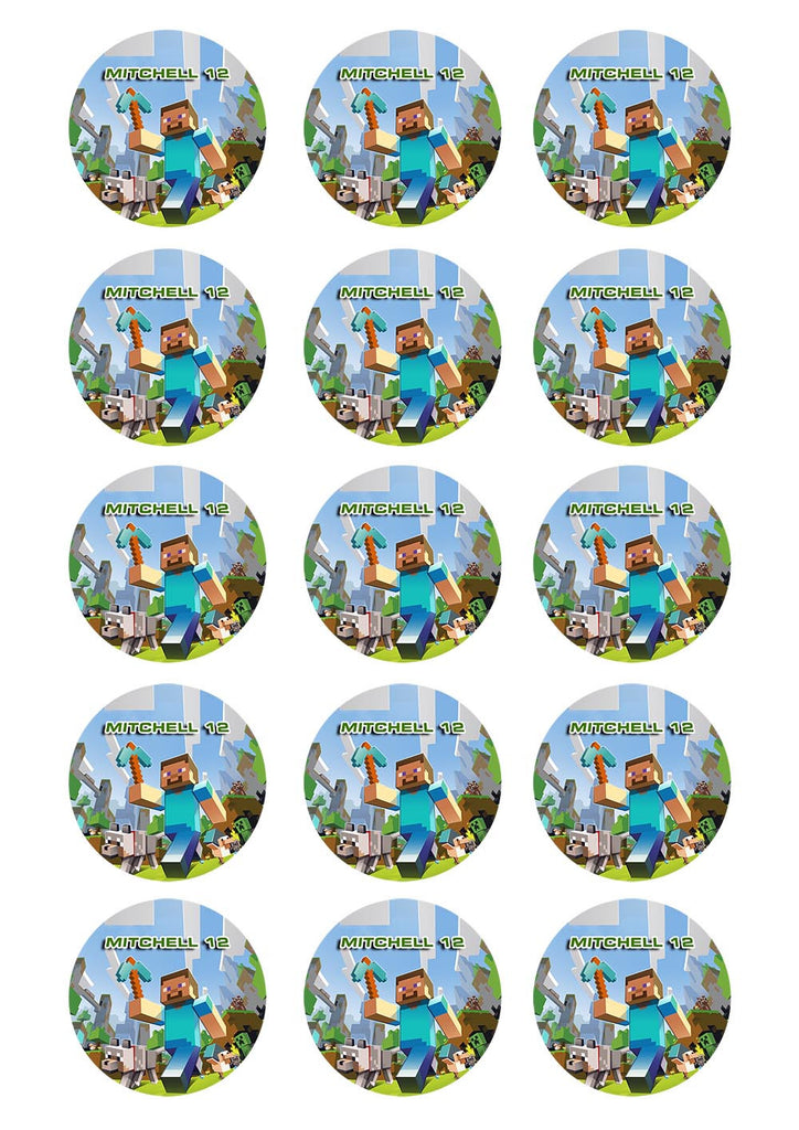 Minecraft Cupcake Toppers – Sunshine Cake Toppers