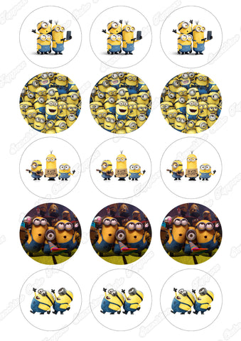"Despicable Me Minions 2"" Cupcake toppers x 15"
