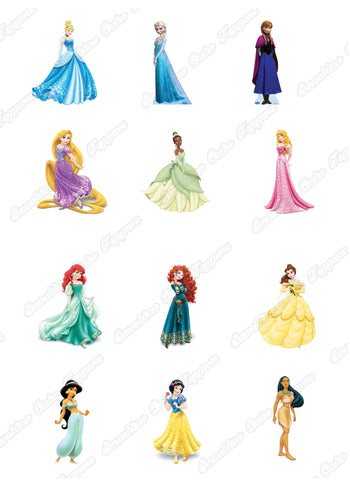 "Disney Princess 2"" High Characters x 12"