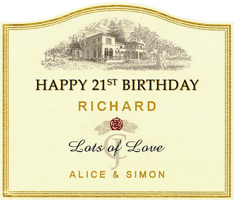 Wine label Personalised Cake Topper