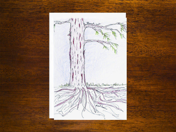 Branch Out, Root Down Card